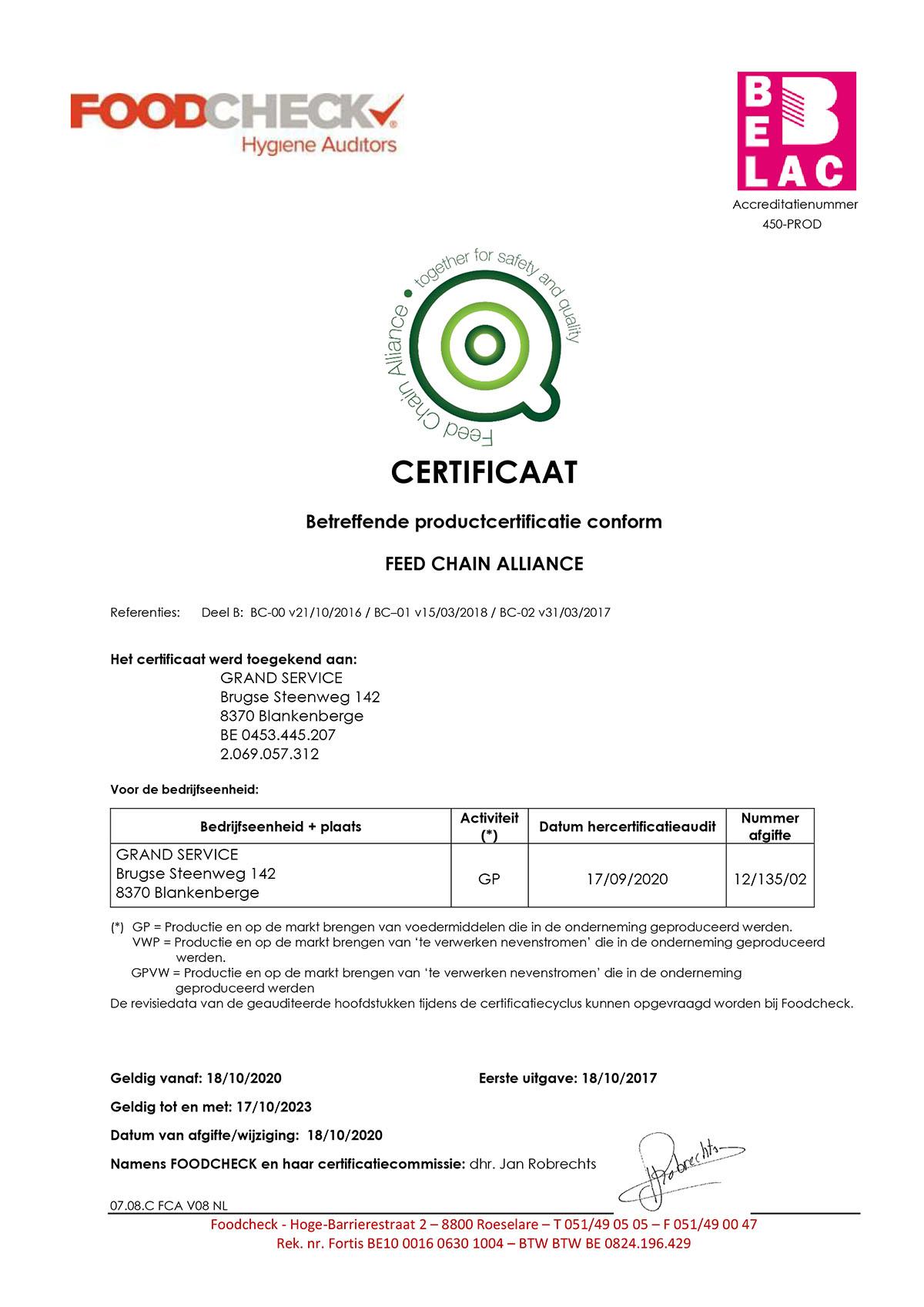 certificaatFCA